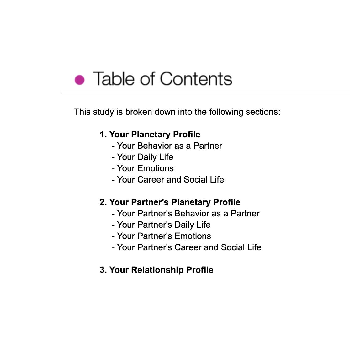 Love Compatibility Report